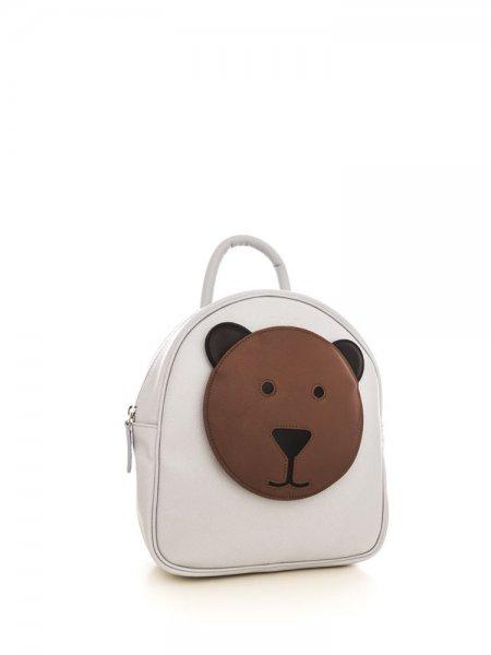 Light Grey Ami Brown Bear Backpack