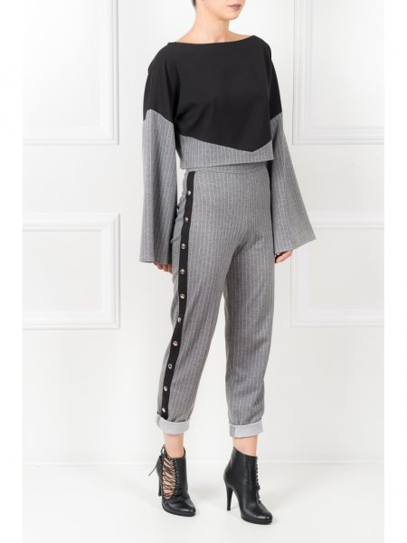 Light Grey Pinstriped Trousers