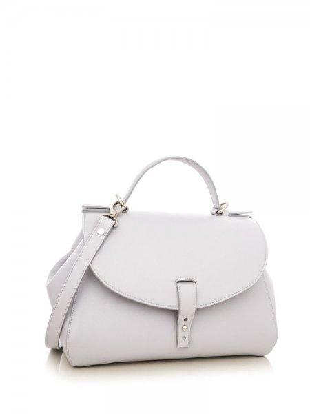 Light Grey Satine Shoulder Bag