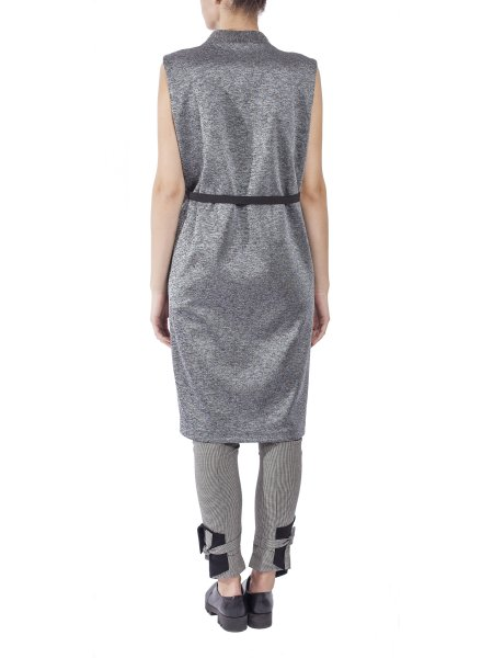 Long Silver Crossie Vest
