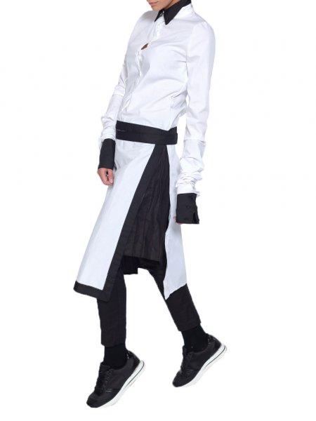 Long White Deconstructive Shirt