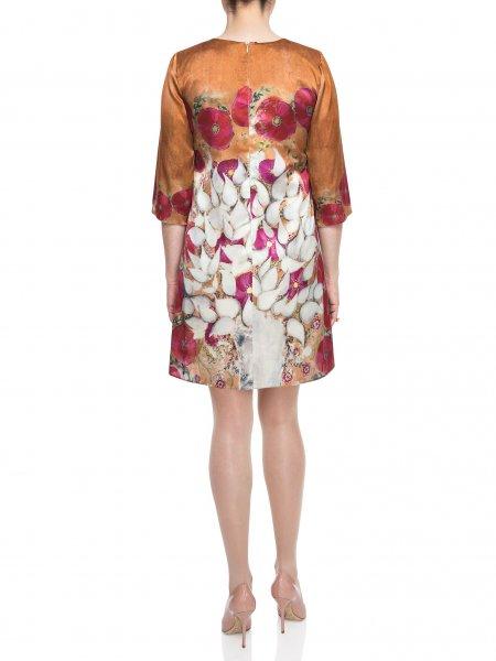 Loose Fit Printed Silk Dress