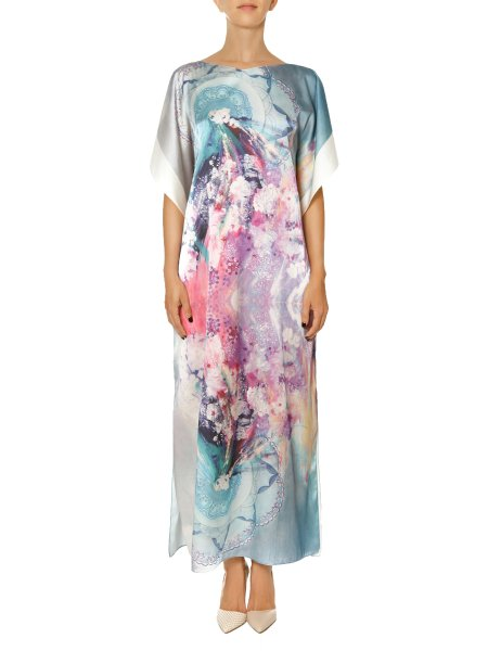 Loose Fitting Silk Printed Dress