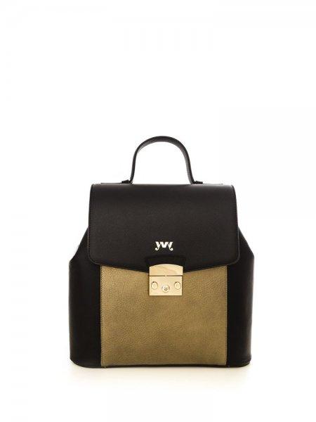 Metalic Gold Aceline Safiano Backpack