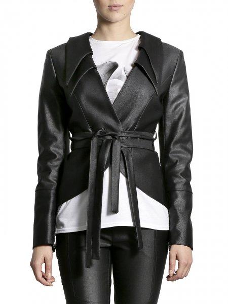 Metallic Cotton Jacket with Double Collar