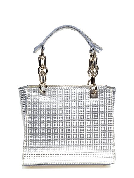 Metallic Silver Handbag
