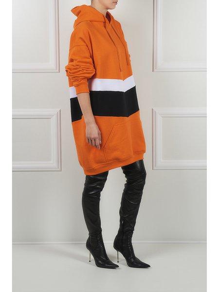 Orange Long Hoodie
