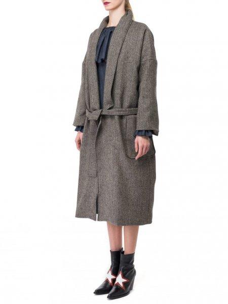 Oversized Wool Mix Coat