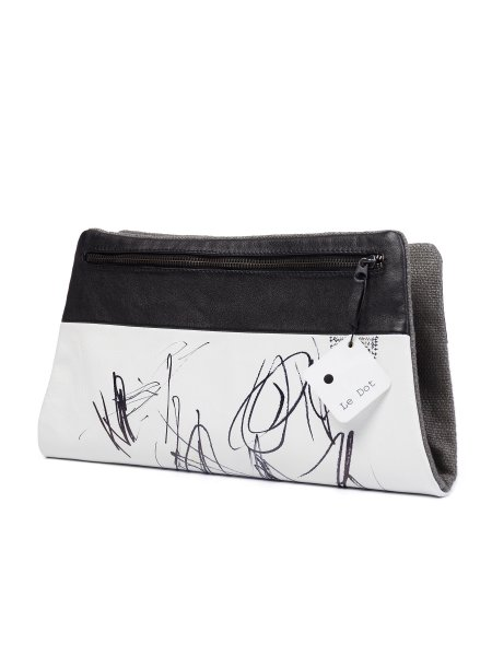 Painted Leather Envelope Bag