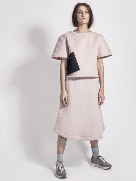 Pink Midi A-Line Skirt