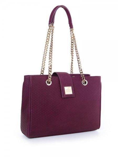 Purple Lady Boss Shoulder Bag