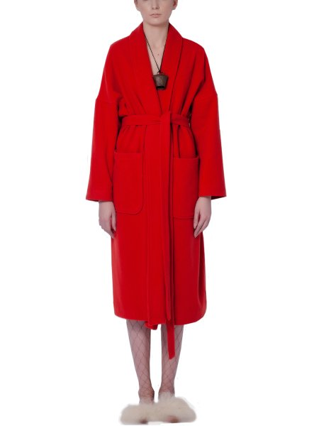Red Woolen Overcoat