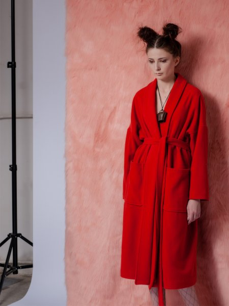 Red Woolen Overcoat