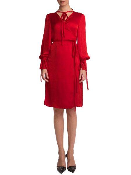Reddish Silk Dress