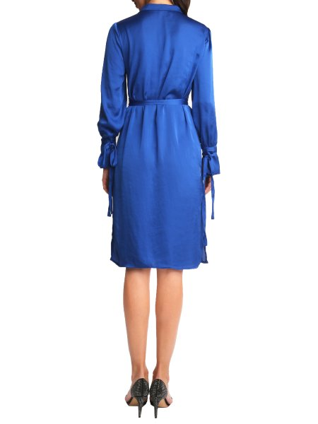 Reflex Blue Silk Dress