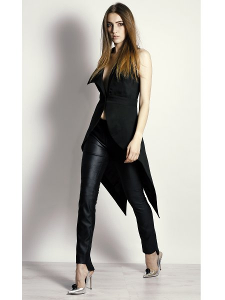 Sharply Cut Tuxedo Tail Vest