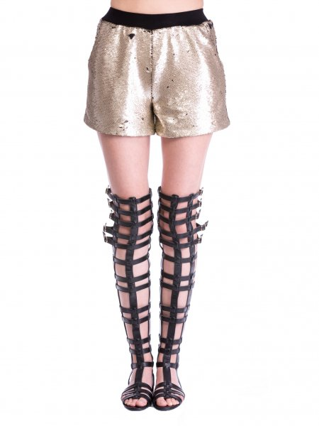 Short Sequinned Trousers