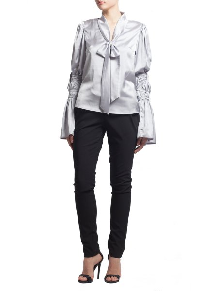 Silver Satin Shirt