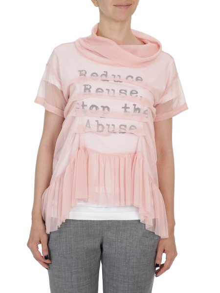 Soft Pink Tulle Top