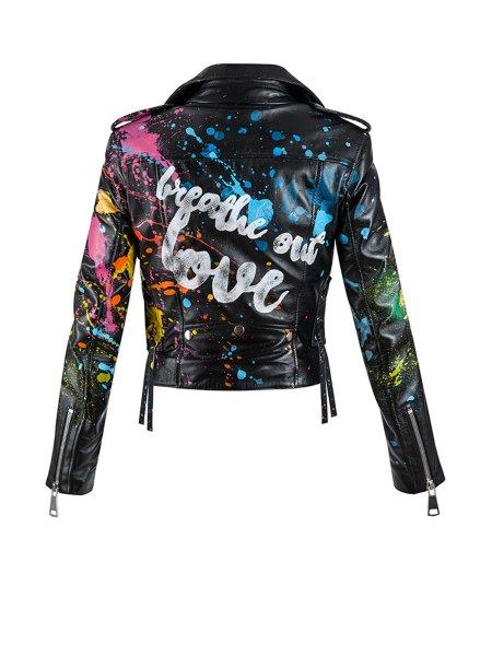 Splash Leather Jacket