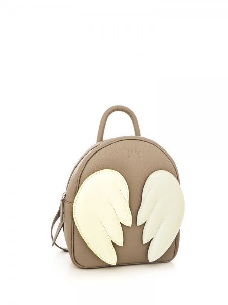 Taupe Ami Backpack with Cream Wings