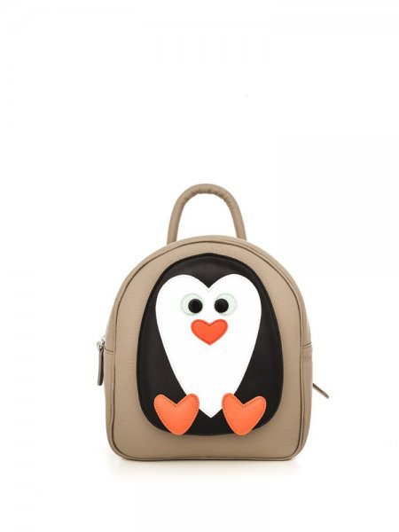 Taupe Ami Penguin Backpack
