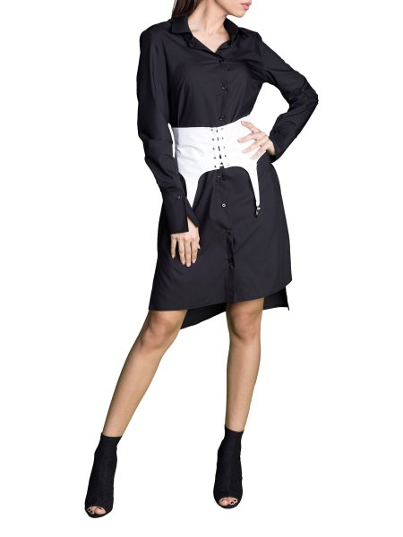 Waist Lock Shirt Dress