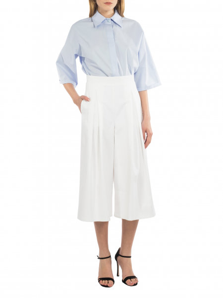 White Cotton Culottes