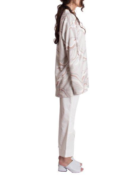 White Denim Flared Trousers