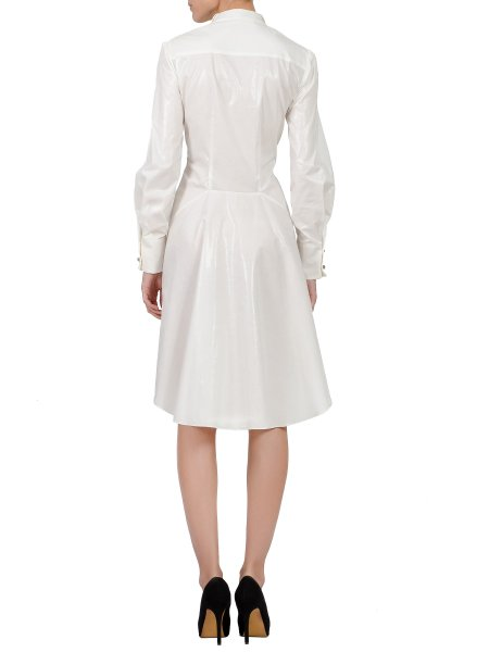 White Dress with Double Collar
