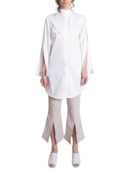 White Petal Sleeves Shirt