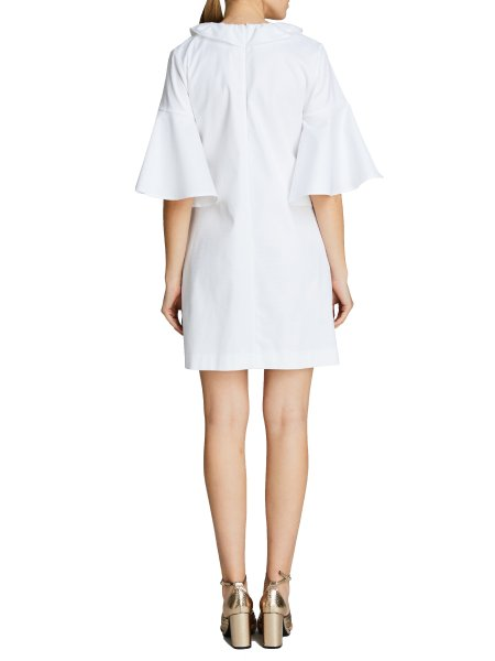 White Shirt Dress With Ruffles