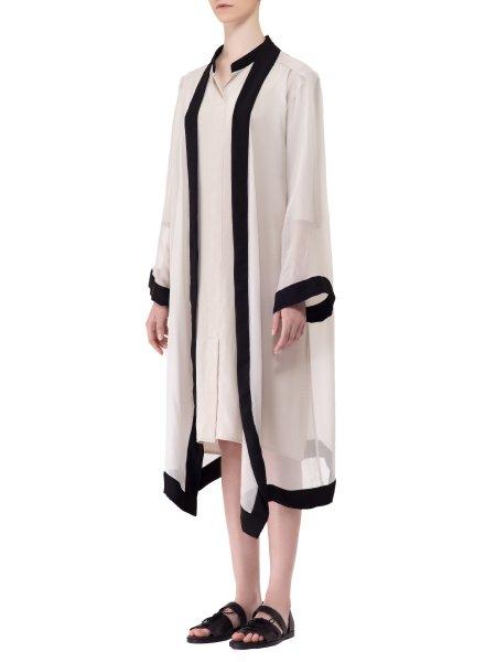Wide Sleeved Silk Veil Kimono