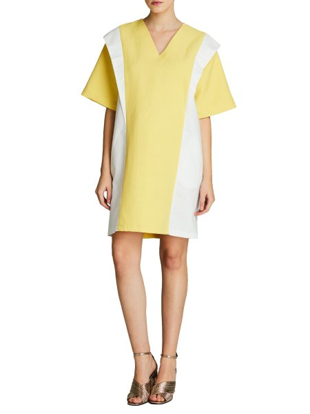 Yellow Linen Mini Dress