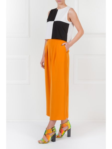 Yellow Loose Fit Trousers